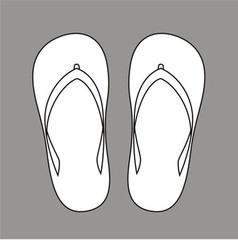Beach slippers vector