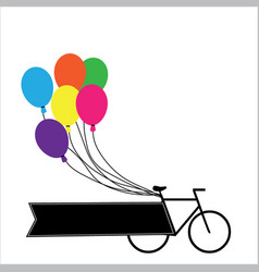 Bicycle with balloons vector
