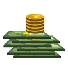 bills money pattern isolated icon vector image