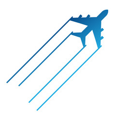 blue aircraft icon vector image