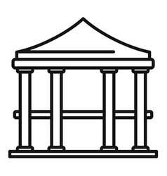 Bower gazebo icon outline style vector