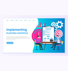 business partnership broker collaboration vector image