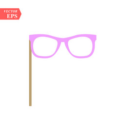 carnival sunglasses icon in flat style for web vector image