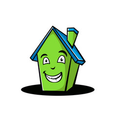 cartoon home smile vector image