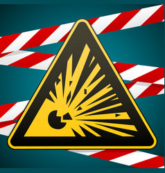 Caution - risk of explosion warning sign and vector