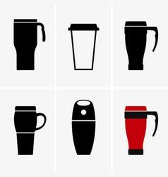 Coffee travel mug vector