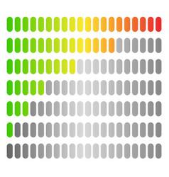 Colored progress bars progress strength indicators vector