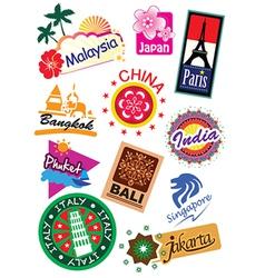 Country symbol sticker vector