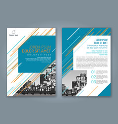 Cover annual report 930 vector