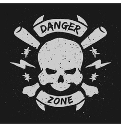 Danger zone emblem vector image