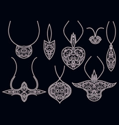 design pendants with beads vector image