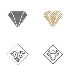 Diamond logo design inspiration vector