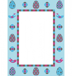 Easter frame decoration vector image