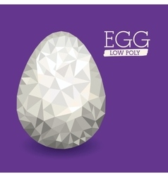 easter low poly design vector image