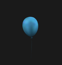 empty blue balloon vector image