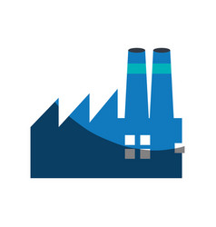 factory building symbol vector image