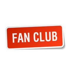 Fan club square sticker on white vector