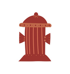 fire hydrant urban architecture design element vector image