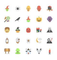Flat icons halloween vector