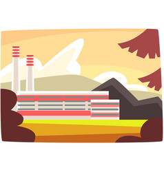 fossil fuel plant energy producing power station vector image