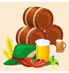 germany beer festival oktoberfest bavarian beer vector image