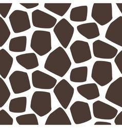 Giraffe skin seamless pattern Safari vector image