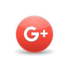Google plus icon simple style vector