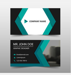 Green abstract corporate business card name card vector