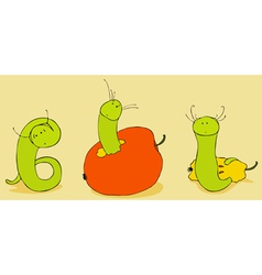 Green Worm vector image
