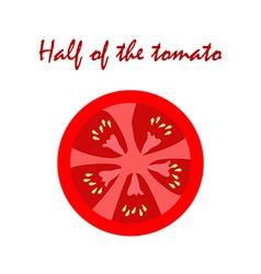 Half of the tomato vector image