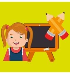 Happy child with in school design vector image