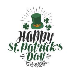 Happy st patrick s day greeting card irish beer vector