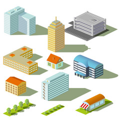 houses and buildings vector image