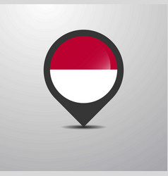 indonesia map pin vector image