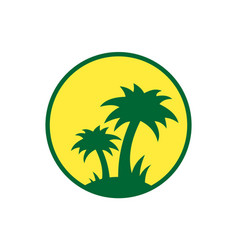 island logo icon design concept vector image
