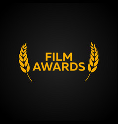 laurel film awards winners film awards logo vector image