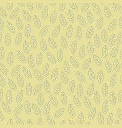 leaf seamless pattern background hand vector image