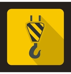 Lifting crane hook icon flat style vector