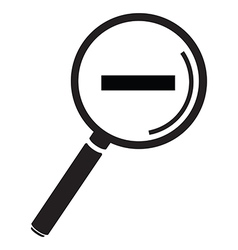 magnifying glass simple minus vector image