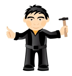 Man with gavel vector