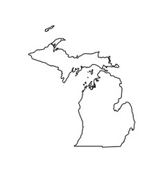 Map of the us state michigan vector