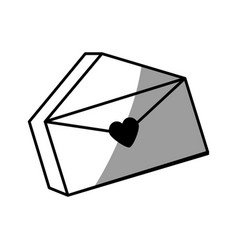 message mail romantic envelope vector image