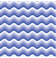 modern blue seamless wavy line pattern vector image