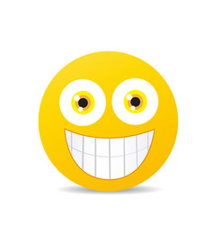 modern yellow laughing happy smile vector image
