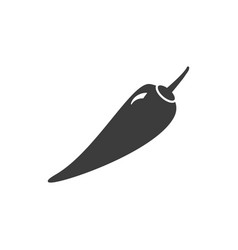 Monochrome isolated pepper icon on white vector