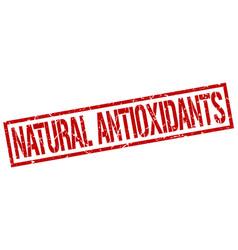 Natural antioxidants stamp vector