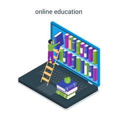 online education concept 03 vector image