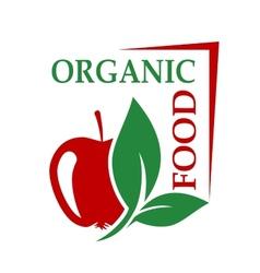 Organic food icon vector image