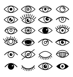 Outline eye icons vector