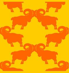 ram pattern flock of sheep ornament farm animal vector image